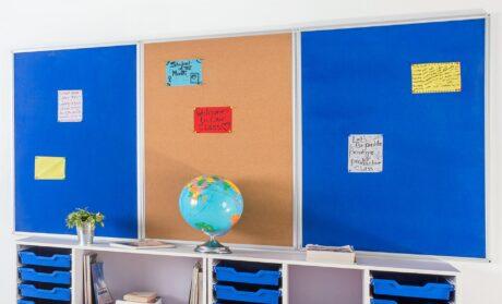 Kamštinė mokyklinė pakabinama lenta